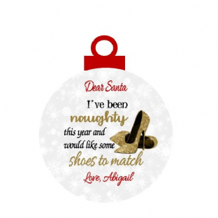 I've been Naughty Gold Shoes Christmas Ornament Decoration